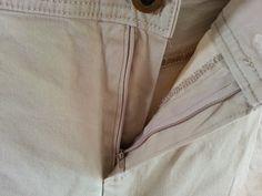 Coudre une braguette de pantalon/jeans. Tuto pas à pas. Sew jeans zip. Step by step. Diy