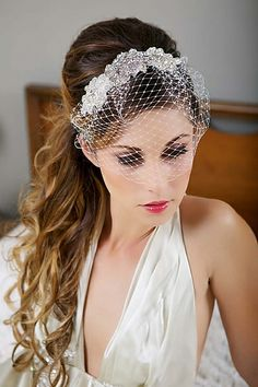 Birdcage veil by Real Size Bride