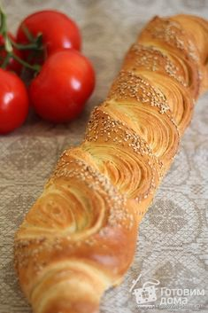"""Французский багет """"Tourbillon"""" Braided Bread, Bread Bun, Baguette Bread, French Baguette, Bread Shaping, Puff Pastry Recipes, Food Garnishes, Russian Recipes, Food Shows"""