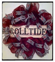 Alabama Football Wreath Roll Tide on Etsy, $58.00