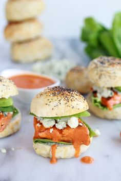 Crispy Buffalo Style Salmon Sliders. Serve these up at your next party!