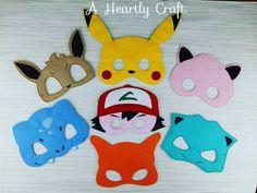 Pokemon 7 máscara Set fieltro Vestido de máscaras por AHeartlyCraft