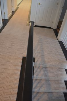 Hall and stairs Needham, Ma. http://carpetworkroom.com