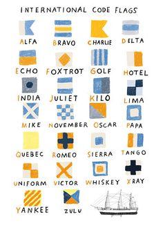 Boat Names Discover Nautical Code Flags Print Nautical Code Flags Print Quebec, Nautical Flags, Nautical Flag Alphabet, Beach Flags, Nautical Quilt, Flag Code, Human Flag, Golf Hotel, Illustrator