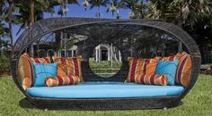 Modern Outdoor Daybed Furniture Design, Sculptural Collection by Neoteric Luxury, Spartan