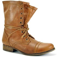 ShopStyle: Steve MaddenTroopa - Tan Leather Combat Boot