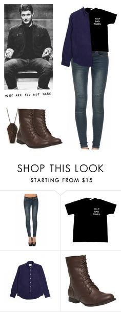 """Dean Winchester - spn / supernatural"" by shadyannon ❤ liked on Polyvore featuring Wet Seal"