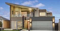 Contemporary range of stylish two storey homes offering the ultimate lifestyle for Perth home buyers. Browse our designs that take luxury to the next level. Modern House Facades, Modern House Design, House Windows, Facade House, Big Windows, Double Storey House, Futuristic Home, Building A Container Home, Beach House Kitchens
