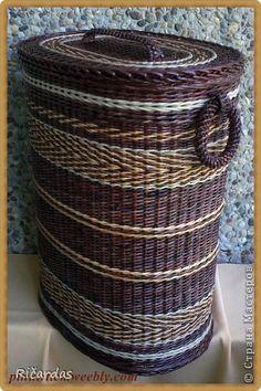 Поделка изделие Плетение Май Бумага газетная Трубочки бумажные фото 3