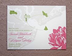 Travel themed save the dates