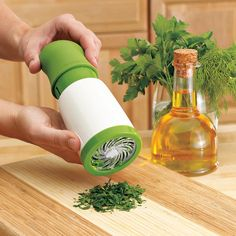 Herb mill. For all the herbs I HATE chopping!! cook, stuff, buy, herbs, food, gadget, random, chop, herb mill