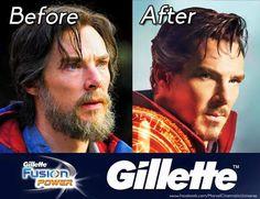 Doctor Strange Gillette advertisement xD