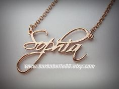 Beautiful Personalized Any Name Necklace come with by barbabelle88
