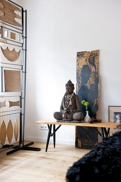 ♂ Asian Inspired Home Deco buddha Le Style Zen, Feng Shui, Zen Interiors, Buddha Decor, Global Decor, Asian Interior, Asian Home Decor, Meditation Space, Blog Deco