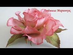 МК.Роза с фоамирана! часть №1 How to make a rose from foamirana! Part №1 - YouTube