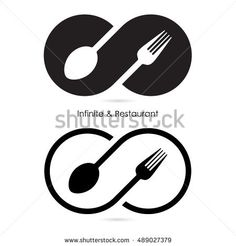 Find Infinity Restaurant Iconfood Infinity Iconfork Spoon stock images in HD and millions of other royalty-free stock photos, illustrations and vectors in the Shutterstock collection. Logo Design Liebe, Food Logo Design, Logo Food, Branding Design, Word Logo, 2 Logo, Logo Restaurant, Sushi Logo, Art Deco Logo