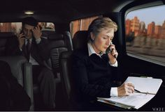 Secretary of State Hillary Clinton Photographed by Annie Leibovitz, Vogue, December 2003