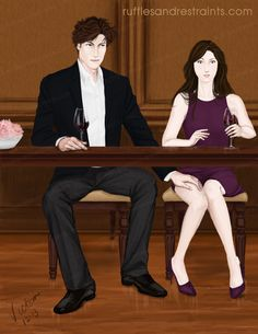 There is no doubt that Christian Grey has a strong attraction to Ana Steele, but sometimes it manifests itself in unexpected moments…as Ana soon finds out in a moment from Fifty Shades of Grey. I thought I'd attempt to capture that moment in an illo!