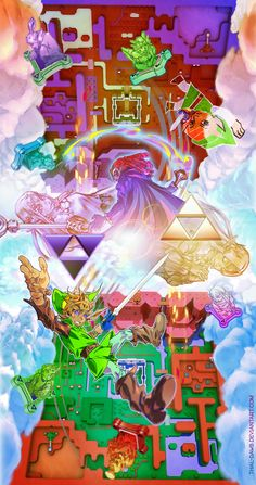 The Legend of Zelda: A Link Between Worlds Epic Art