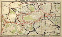 Original plano de Londres uno de los metros mas antiguos del mundo