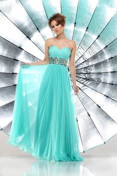 Lovely Grecian style, flowing turquoise dress, by Sparkle LOVE THIS DREEEEESSSS!!!! #FOLLOWME