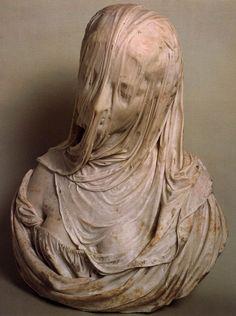 Bust of a Veiled Woman (Puritas), by Antonio Corradini (1717-1725)