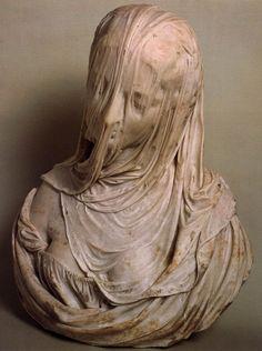Bust of a Veiled Woman (Puritas), by Antonio Corradini (1717-1725)  Amazing feat of creating the illusion of a see through veil in stone