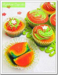 Rainbow Cupcake!!! | Spice Ur Senses