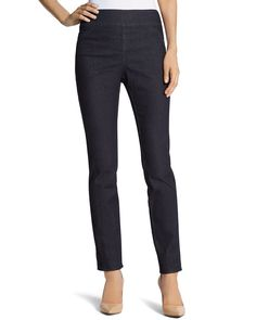 Chico's So Slimming By Chico's Rinse Wash Seamed Jegging