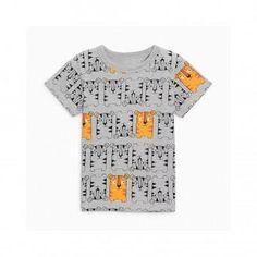 Lovely Mini Cat Print T-shirt for Boys