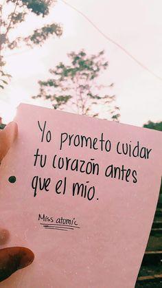 Incluso si llegas a dejarme, siempre estaré esperándote Amor Quotes, Baby Quotes, True Quotes, Cute Love, Love You, Love Phrases, More Than Words, Spanish Quotes, Love Notes