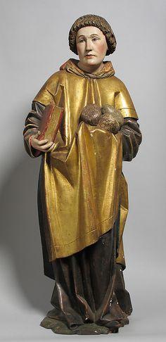 Saint Stephen -- Late Century -- German -- Wood with paint -- The Metropolitan Museum of Art Medieval Life, Medieval Art, Renaissance Art, Religious Images, Religious Icons, Religious Art, Saints And Sinners, Saint Stephen, Catholic Saints
