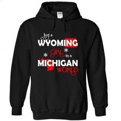 WYOMING-MICHIGAN Girl 06Red - #tee spring #hoodie with sayings. ORDER HERE => https://www.sunfrog.com/States/WYOMING-2DMICHIGAN-Girl-06Red-Black-Hoodie.html?68278