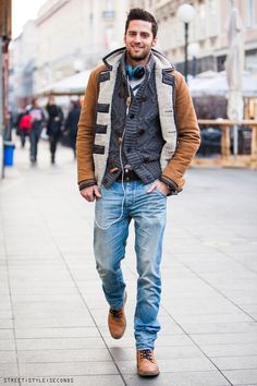 GUYS IN ZAGREB: KEEPING WARM AND HANDSOME - STREET STYLE SECONDS
