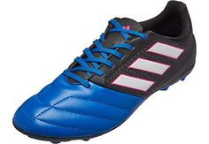 adidas Ace Soccer Shoes · adidas Kids ACE 17.4 FG Soccer Cleats - Black   amp  Blue  eedfd10c53c0b