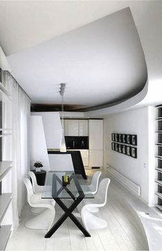 Marvelous Cool Tips: Simple Minimalist Home Chairs minimalist living room ideas tvs.Minimalist Living Room Ideas Small Spaces minimalist home ideas couch. White House Interior, White Interior Design, Contemporary Interior Design, Room Interior, Interior Concept, Apartment Interior, Minimalist Dining Room, Minimalist Interior, Minimalist Decor