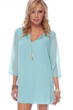 Effortless!    Gina Shift Dress in Baby Blue $33 at www.tobi.com