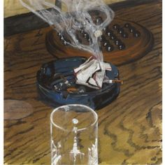 Glass Ashtray Game / 2006 / aquarel en gouache op papier / 76 x cm Dead Poets Society, Spa Treatments, Riddles, Gouache, Van, Glass, Drinkware, Puzzle, Corning Glass