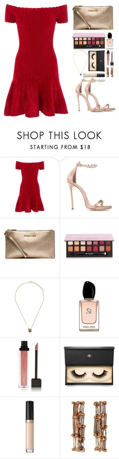 """Untitled #504"" by emmeleialouca ❤ liked on Polyvore featuring Rails, Dsquared2, MICHAEL Michael Kors, Anastasia Beverly Hills, Wouters & Hendrix Gold, Armani Beauty, Jouer, Lash Star Beauty and Nak Armstrong"