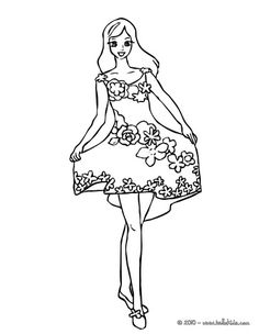 Fairy With Flower Dress Coloring Page Color This Picture Of The Colors Your Choice