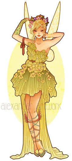 Art Nouveau Costume Designs VII: TinkerBell by Hannah Alexander