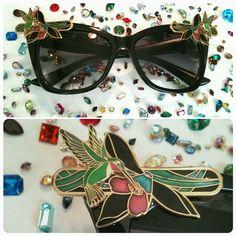 Art Deco Humming Bird Cat Eye Sunglasses by RhinestoneAlliance