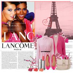 Rouge in Love by Lancôme., created by sasacoquetterie.polyvore.com- colors and colors and jsut something makes you feel right at home- nsideadivascloset.com- for accessories