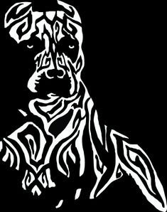 """Tribal Pitbull design sticker / decal for your car, boat, wall, ATV or anywhere you wish! This decal is 10"""" x 8"""" and available in 8 colors. www.BullySupplies.com"""