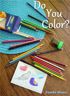 Condo Blues: Project Me: Fight Stress with Coloring. Using coloring books for adults to relieve stress and for creative DIY inspiration
