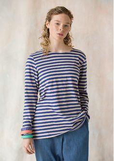 Gestreiftes Shirt aus Öko-Baumwolle 80411-58.tif