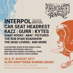 Du möchtest auch zum Pure&Crafted Festival in Berlin und u.a Interpol & Razz live sehen?  Und das for free!!!??? Like & verlinke deine Lieblingsbegleitung unter diesem Post und vielleicht seid ihr dann dabei !!! #pureandcraftedfestival #berlin #iriedaily #goodluck