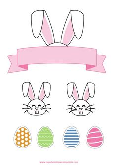Happy Easter, Easter Bunny, Easter Printables, Christmas Clipart, Alice, Paper Flowers, Crafts For Kids, Frozen, Scrap