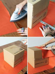 diy storage ideas for craft room | DIY Upholstered Storage Boxes, Recycle Crafts Personalizing Room Decor