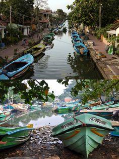 the Dutch Channel, Negombo, Sri Lanka #SriLanka #Negombo #DutchChannel #Boats